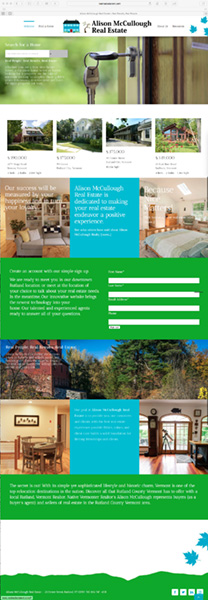 Alison McCullough Real Estate - Website Home Page